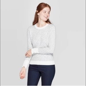 Gray leopard print sweater 🌻